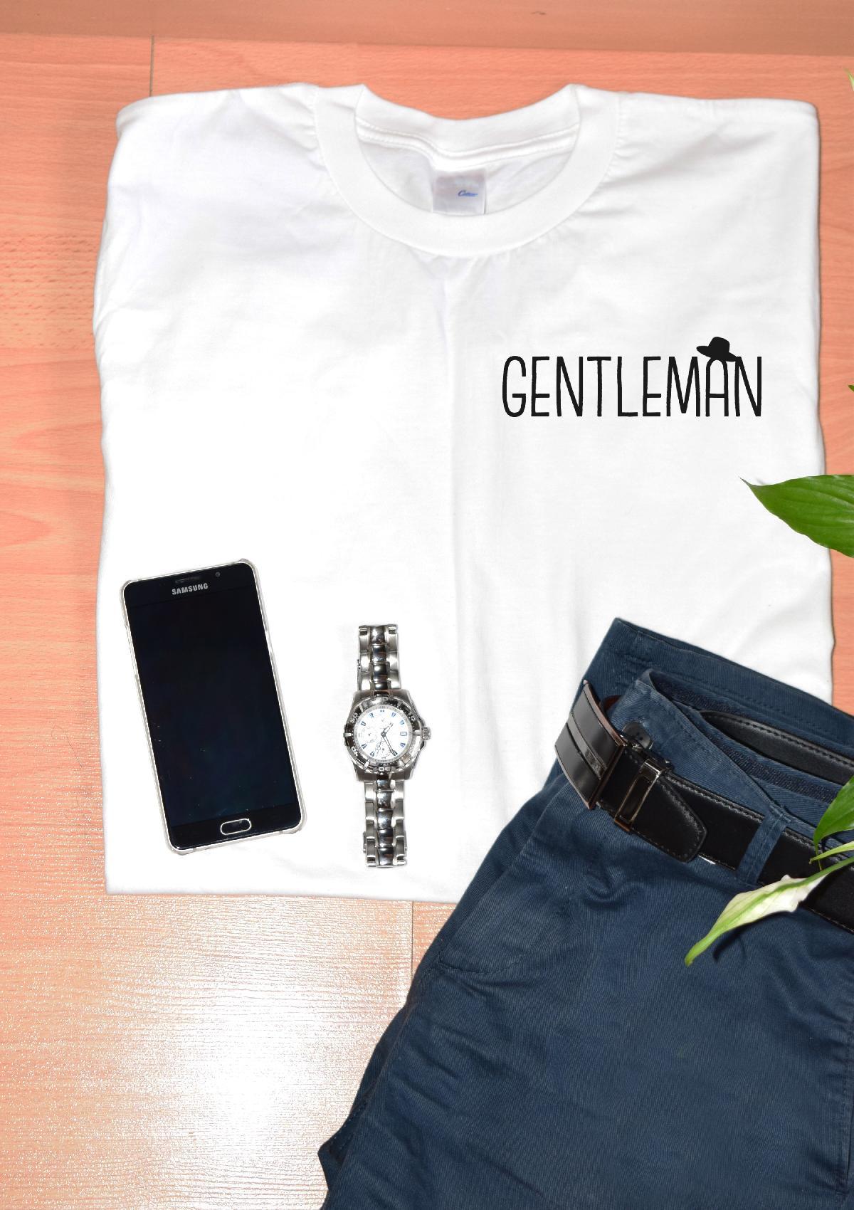 T-shirt bio imprimé GENTLEMAN