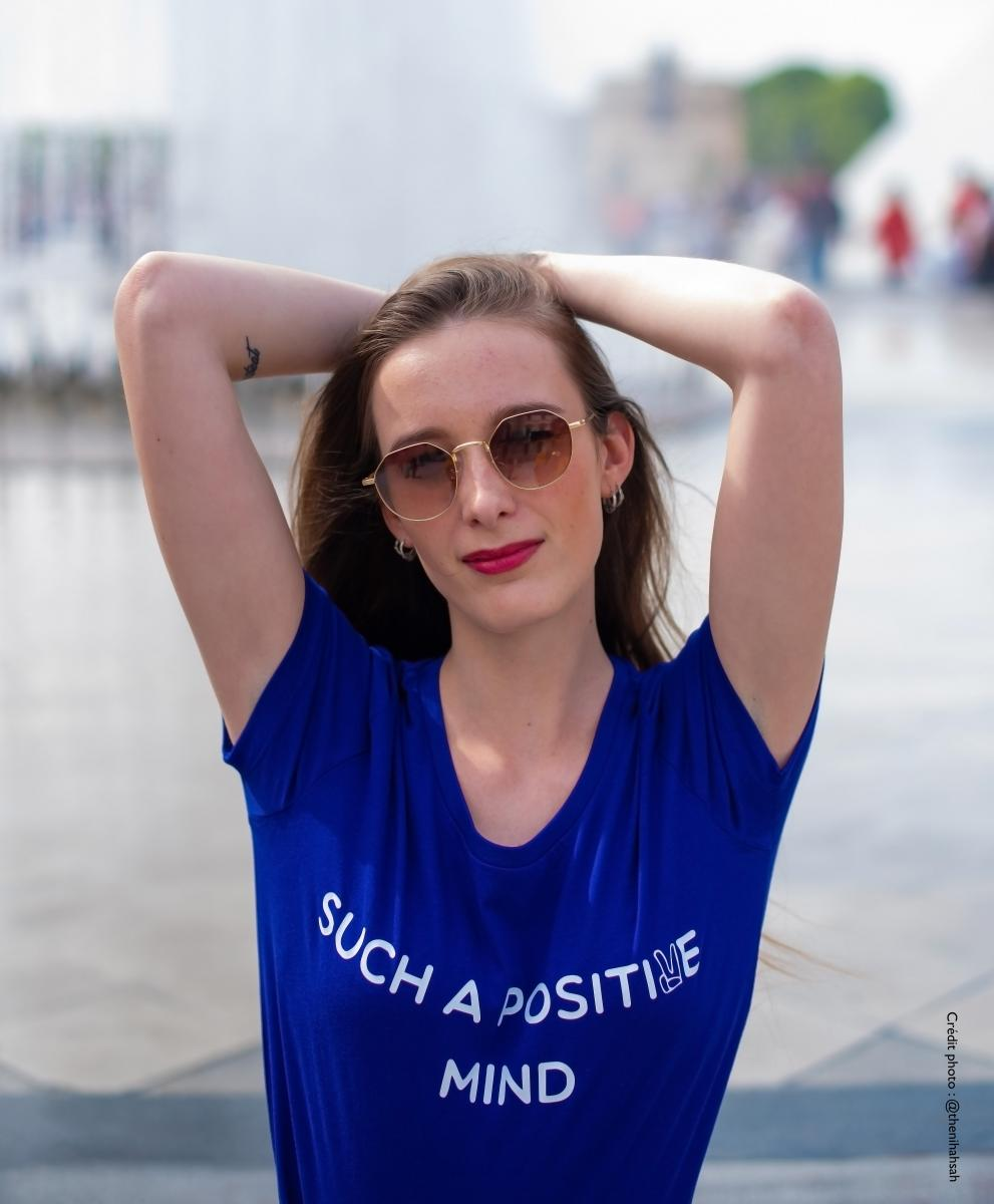 T-shirt bio imprimé POSITIVE MIND